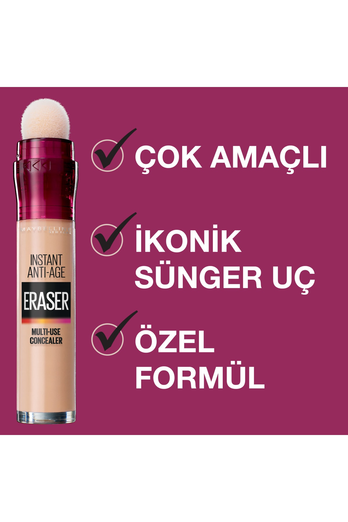Maybelline New York Instant Anti Age Eraser Kapatıcı-02 Nude 6,8 ml