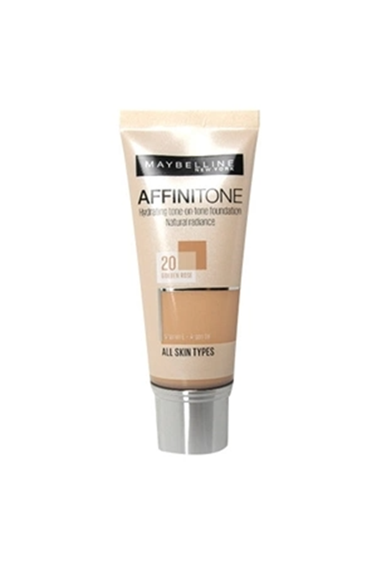 Maybelline New York Affinitone Kapatıcı ve Nemlendirici Fondöten Golden Rose 30 ml No: 20